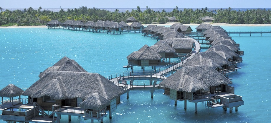 French Polynesia Tahiti View Hotel Four Seasons Resort Bora Photo